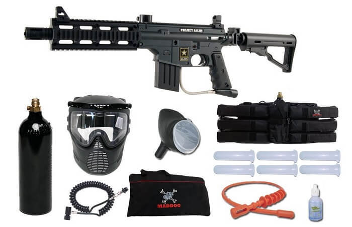 US Army Project Salvo Paintball Marker Gun 3Skull Sniper Set