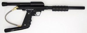 a full black paintball tool BLACK Phantom Stock Class Pump Paintball Gun + Bottomline +45 Gun Grip Frame SC