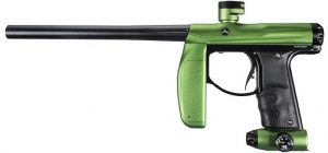 a black and green Empire paintball axe marker gun