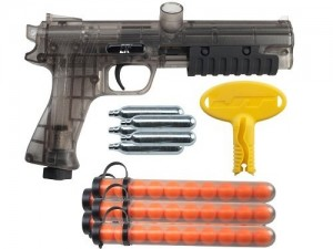 the JT ER2 Pump Paintball Pistol Kit - Smoke with all its accessories included