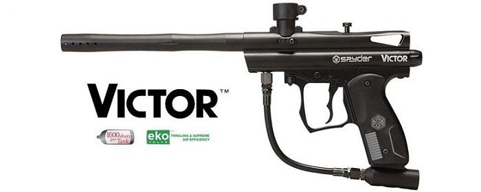 a large black Kingman Spyder Victor gun