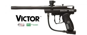 a black Spyder Victor beginner gun