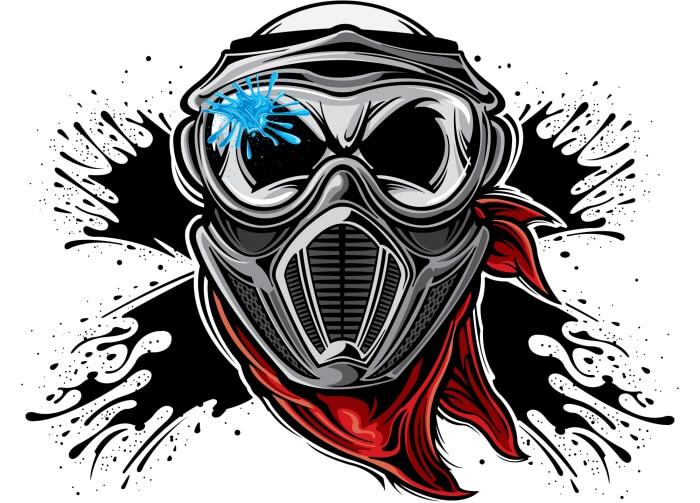 paintball helmet illustration