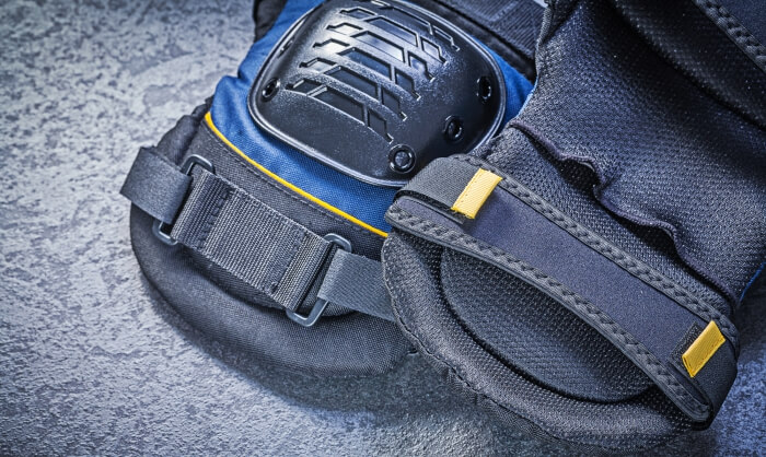 closeup photo of knee pads