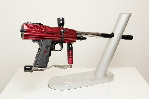 WDP Angel LCD Paintball Gun in red and black