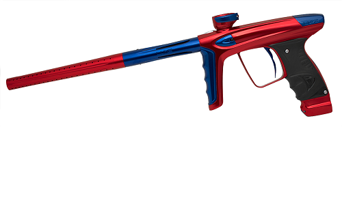 dlx luxe ice gloss red blue paintball gun