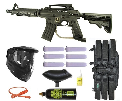 US Army Alpha Tactical paintball gun set
