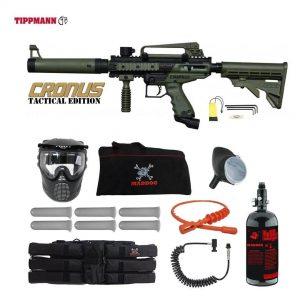 Tippmann Cronus Tactical Corporal HPA Paintball Gun Package