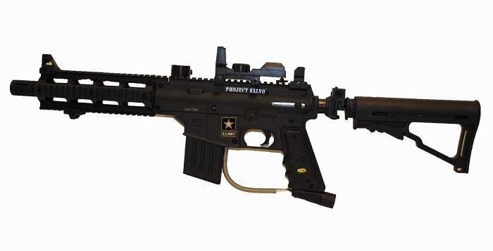 US Army Black Tippmann Project Salvo Paintball Gun
