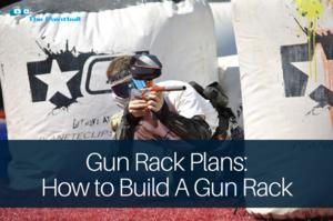 gun rack plans: paintball player shooting an opponent