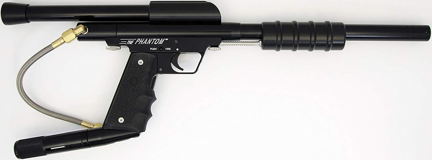 BLACK Phantom Stock Class Pump Paintball Gun