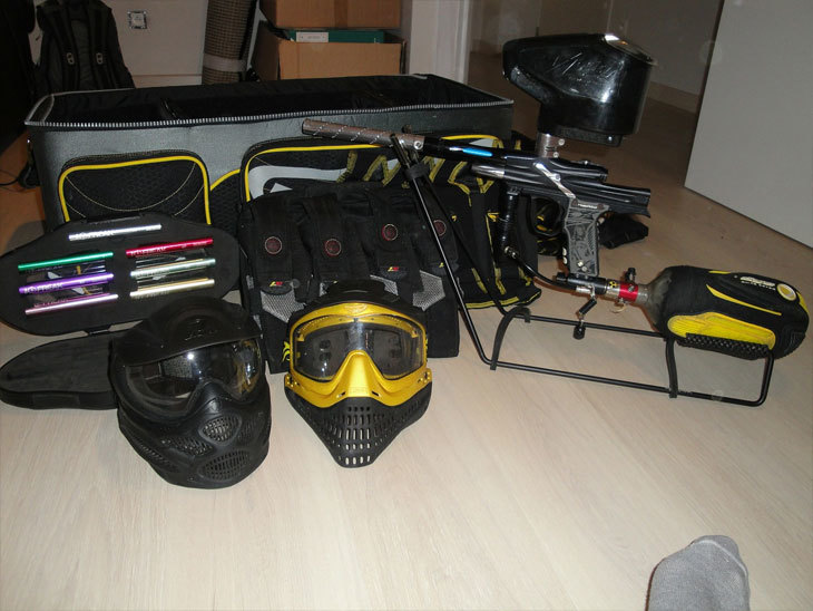 paintball equipment sport game